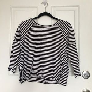 Navy/Cream Striped Sweater